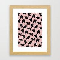 Batpigs Framed Art Print