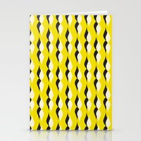 yellow petal lines Stationery Cards
