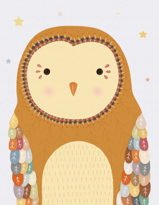 Autumn the Owl Art Print