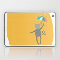 a cat is always prepared for the rain Laptop & iPad Skin