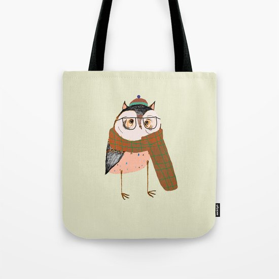 Owls Love Scarfs.  Tote Bag