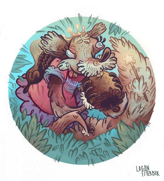 Squirrel Princess Art Print