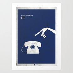 ET Minimal Film Poster Art Print