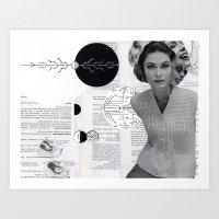 Faces - Collaboration with Ephemerality Art Art Print