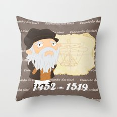 Leonardo da Vinci Throw Pillow
