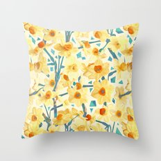 Yellow Jonquils Throw Pillow
