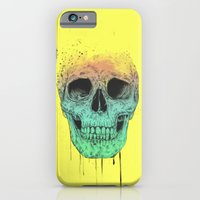 iPhone & iPod Case featuring Pop art skull  by Balazs Solti