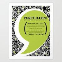 Punctuation [Appreciation]. Art Print