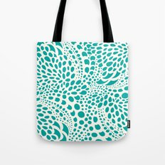 Octopus Dots Turquoise Ivory Tote Bag