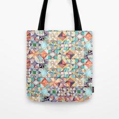watercolour quilt Tote Bag