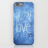 iPhone & iPod Case featuring CAT LOVE by Monika Strigel
