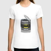 Batsoup Womens Fitted Tee White SMALL
