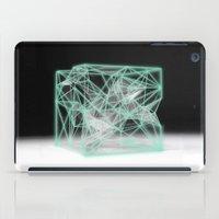 neon cube iPad Case