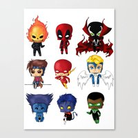 Chibi Heroes Set 2 Canvas Print