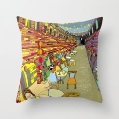 Le Cafe de Nuit  Throw Pillow