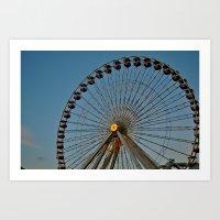 Ferris Wheel - Chicago Art Print
