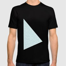 Cool Blue Black SMALL Mens Fitted Tee
