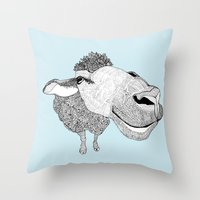 Sheepy Throw Pillow