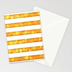 Golden Glitter Stripes Duvet Cover Stationery Cards