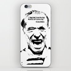 Charles Bukowski Quote World iPhone & iPod Skin