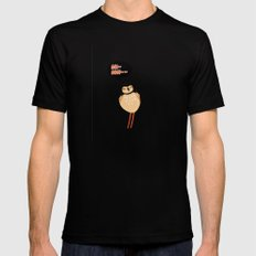 SCOLOPACIDAE BIRD Mens Fitted Tee SMALL Black