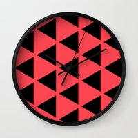 Sleyer Black on Pink Pattern Wall Clock