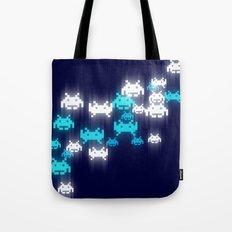 Space Invaders Bokeh Tote Bag