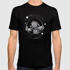 Black Hole SMALL Mens Fitted Tee Black