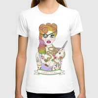 Curves To Kill Womens Fitted Tee White SMALL