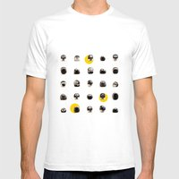 Stoneheads 002 Mens Fitted Tee White SMALL