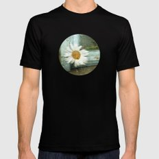 One rainy day, a daisy... Black SMALL Mens Fitted Tee