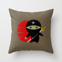 Ninja Star - Dark version Throw Pillow