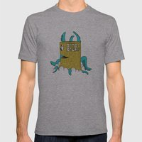 Octostump Mens Fitted Tee Athletic Grey SMALL