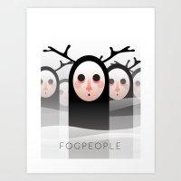 Fog People Art Print