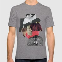 four eyes Mens Fitted Tee Tri-Grey SMALL