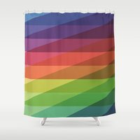 Fig. 040 Rainbow Stripes Shower Curtain