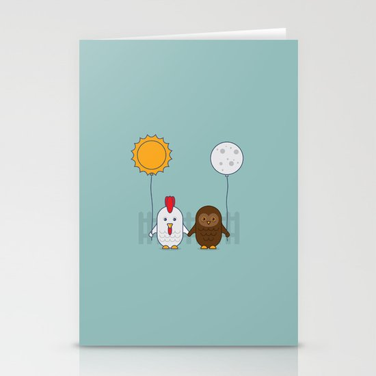 Early Bird & Night Owl Stationery Card