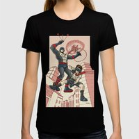 Bola and Kid Sling Womens Fitted Tee Black SMALL