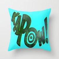 KAPOW! # 1 Throw Pillow
