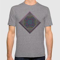 Sunny Flowers Mens Fitted Tee Athletic Grey SMALL