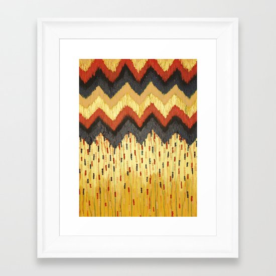 SHINE ON - Gold Glam Chevron Colorful Abstract Acrylic Pattern Painting Modern Home Decor Fine Art Framed Art Print