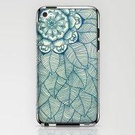 Emerald Green, Navy & Cr… iPhone & iPod Skin