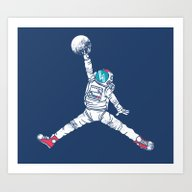 Space Dunk Art Print