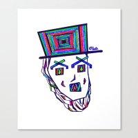 Colored Lincoln Canvas Print