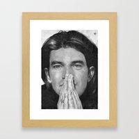 Antonio Banderas Traditional Portrait Print Framed Art Print