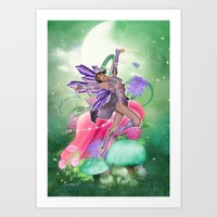 Joyful Fairy .. fantasy Art Print