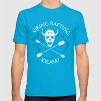 Viking Rafting Iceland Mens Fitted Tee Teal SMALL