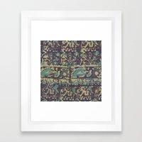 Elephant Batik Framed Art Print