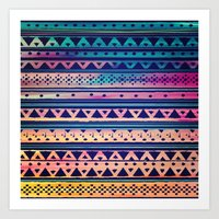 SURF TRIBAL PATTERN Art Print