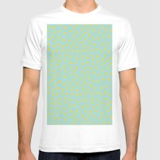 Yellow Pit on Mint /// www.pencilmeinstationery.com Mens Fitted Tee SMALL White